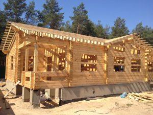 Технология и этапы строительства дома из бруса