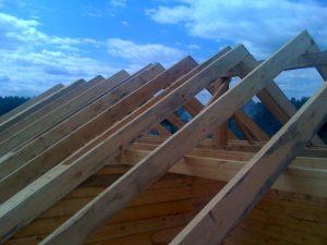 Создание крыши для дома из клееного бруса
