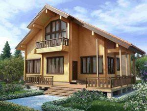 Дизайн дома из клееного бруса – деревянный рай