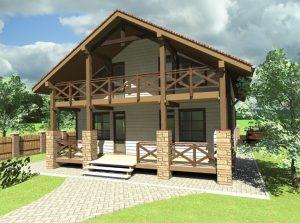 Деревянные дома за каркасной технологиею